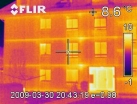 Image d'une thermographie infrarouge d'une facade